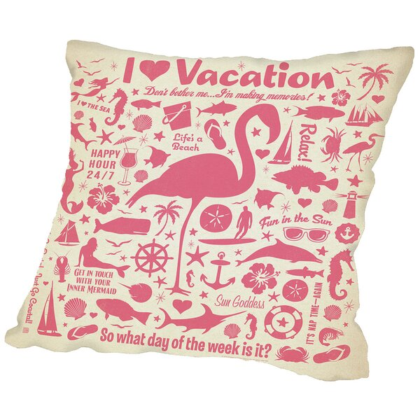 Flamingo Throw Pillow by East Urban Home