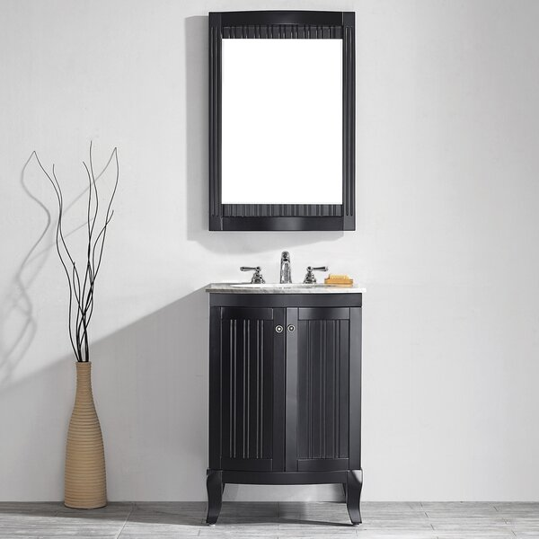 Saint 24 Single Vanity Set with Mirror by Beachcrest Home
