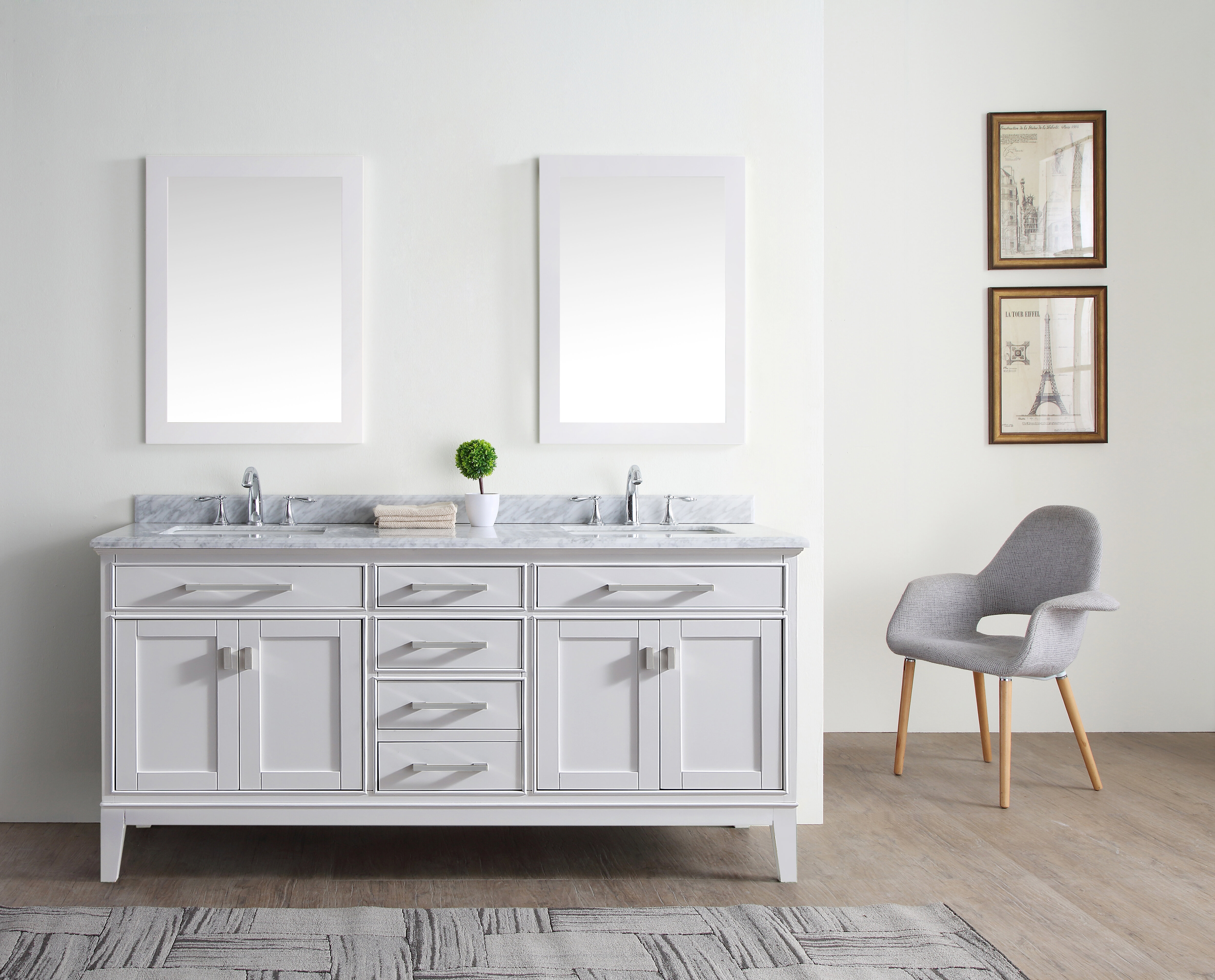Charlton Home Arminta 72 Double Bathroom Vanity Set Reviews Wayfair