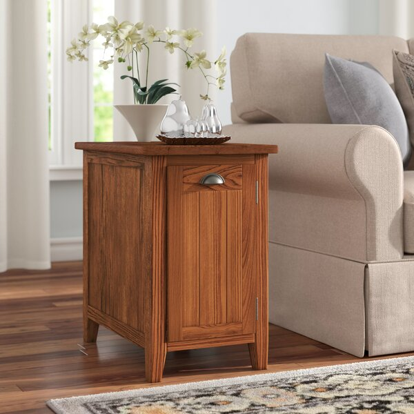 Wilfredo End Table With Storage By Charlton Home