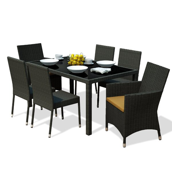 Wolfsberg 7 Piece Dining Set by Wrought Studio