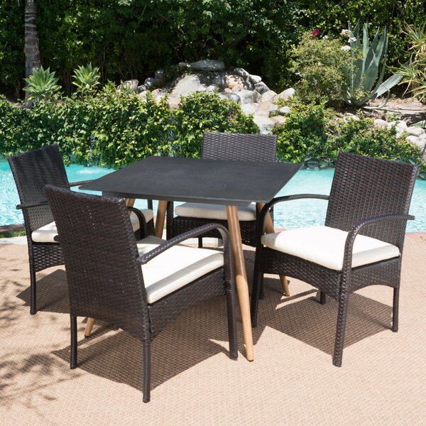 Buse Outdoor 5 Piece Dining Set with Cushions by Ivy Bronx