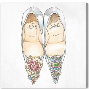 'Gem Shoes Square' Painting Print on Canvas by House of Hampton