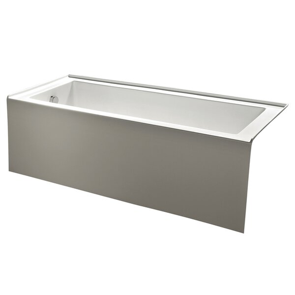 Aqua Eden 60 x 31 Alcove Soaking Bathtub by Kingst