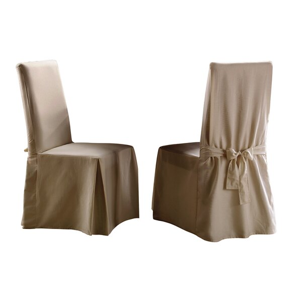 Sure Fit Cotton Duck Full Dining Room Chair Cover Linen
