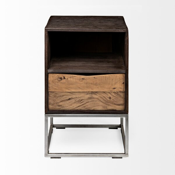 Low Price Vester Solid Wood Tray End Table With Storage