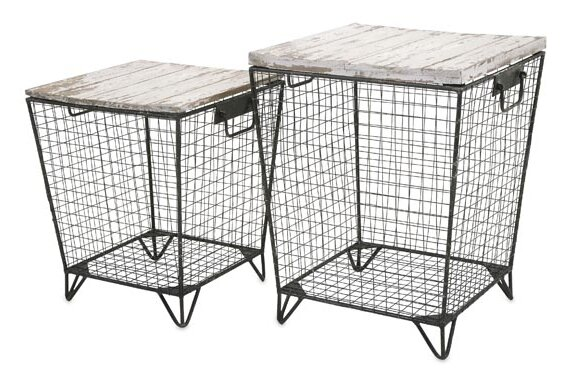 Ava Cage 2 Piece End Table Set by Woodland Imports