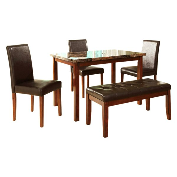Lampson 5 Piece Dining Set by Winston Porter