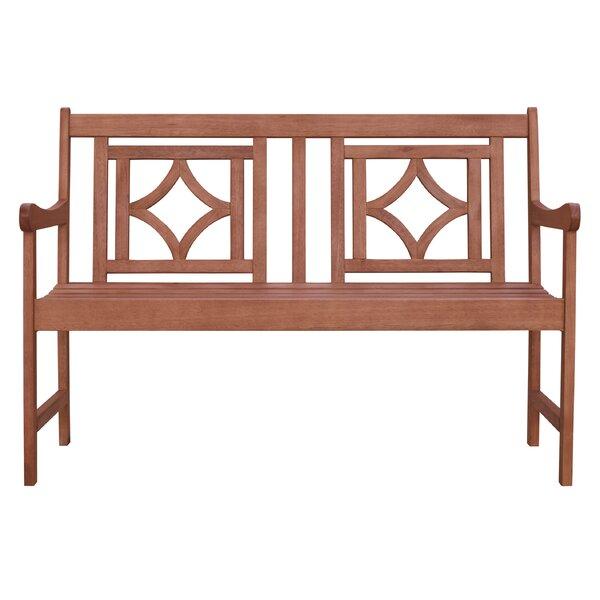 Amabel Patio Diamond Wooden Garden Bench by Beachcrest Home Beachcrest Home