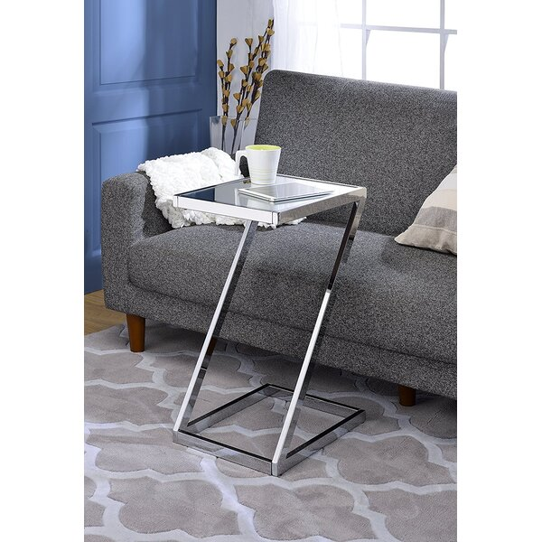 Kloss Modern Metal End Table by Everly Quinn