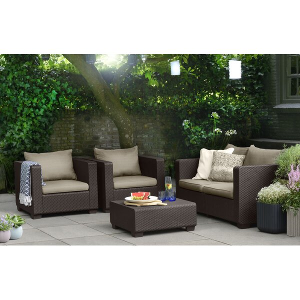 Halloran Resin 4 Piece Seating Group by Ivy Bronx