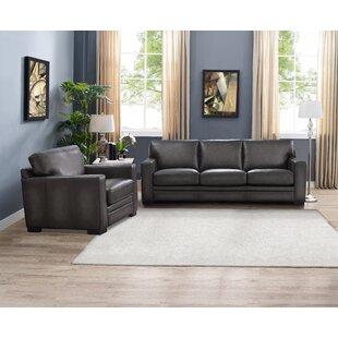 Drakeford Genuine Leather Living Room Set by Brayden Studio®