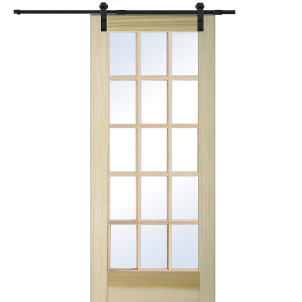 Wood Natural Interior Barn Door by Verona Home Design