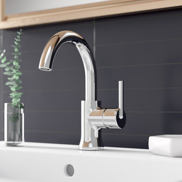 Trinsic Single Hole Bathroom Faucet with Drain Assembly and DIAMOND Seal Technology by Delta Delta