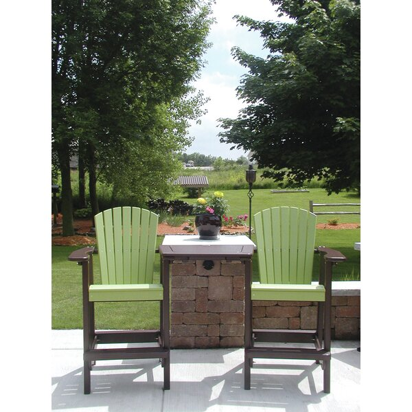 Perfect Choice Plastic Adirondack Chair with Ottoman by Birds Choice