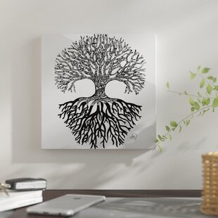 U0027The Tree Of Lifeu0027 Graphic Art Print On Metal
