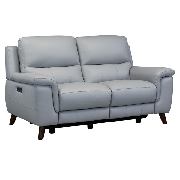 Great Selection Yosef Leather Reclining Loveseat by Red Barrel Studio by Red Barrel Studio