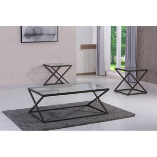 Billips 3 Piece Coffee Table Set Orren Ellis