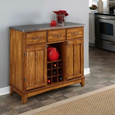 """Andover Mills Presswood 41.75"""" Wide 3 Drawer Serverr  Color: Cottage Oak"""