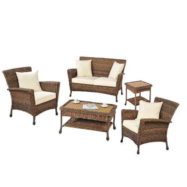 Langston 5 Piece Sofa Seating Group with Cushions by Bayou Breeze
