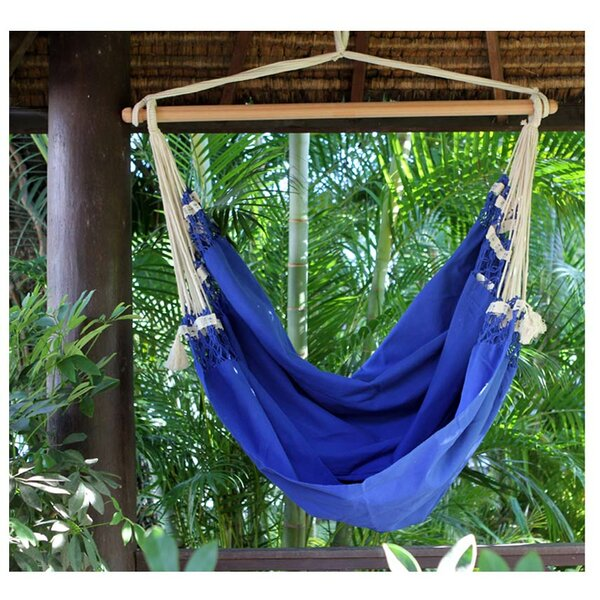 Single Person Fair Trade Cozy Copacabana' Hand-Woven Brazilian Cotton Swinging Chair Hammock by Novica