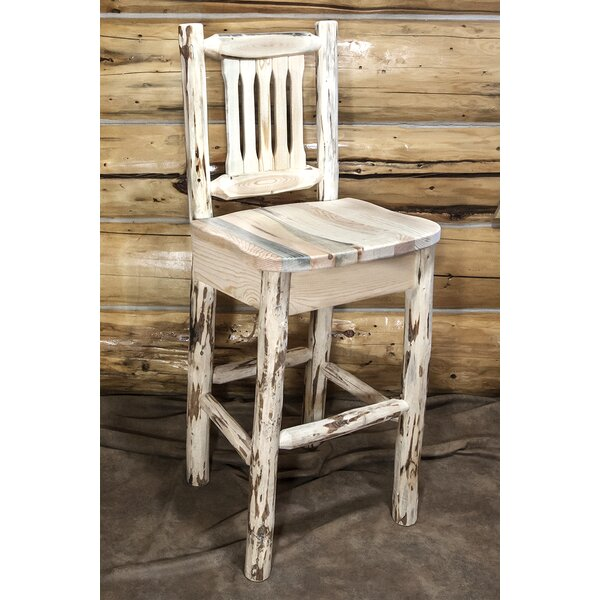 Abordale 30 Clear Lacquer Bar Stool by Loon Peak