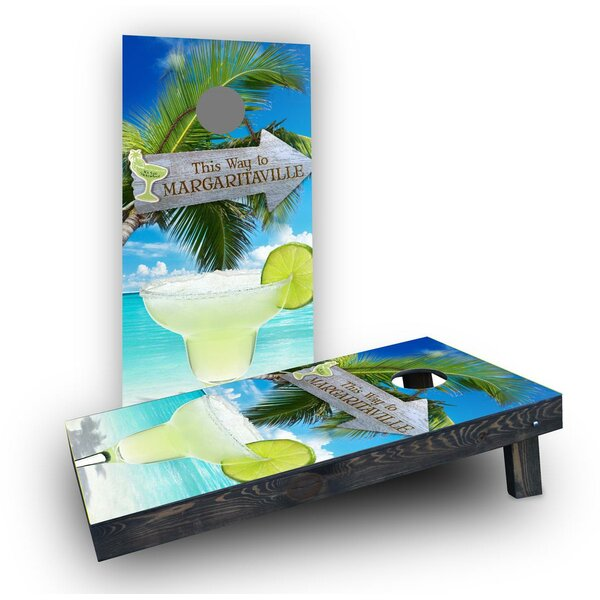 Margaritaville Cornhole Boards (Set of 2) by Custom Cornhole Boards
