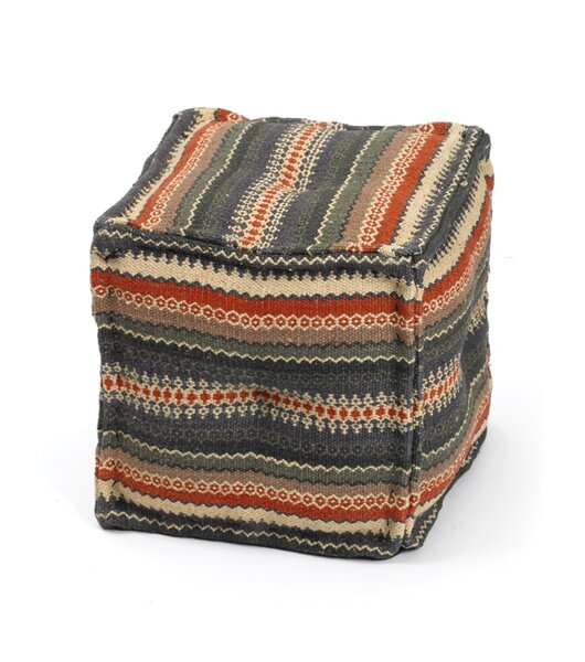 Isabelyn Tufted Cube Ottoman by Loon Peak