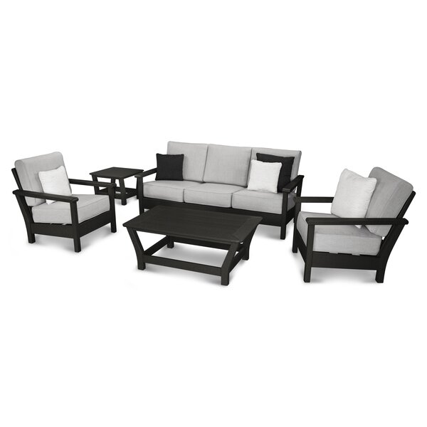 Harbour 5 Piece Sunbrella Sofa Set with Cushions by POLYWOOD®