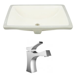 Comparison Ceramic Rectangular Undermount Bathroom Sink with Faucet and Overflow By Royal Purple Bath Kitchen