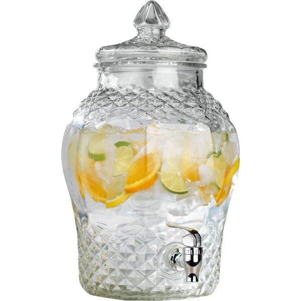 Foshee Cellini Diamond Cut 384 oz. Beverage Dispenser by August Grove