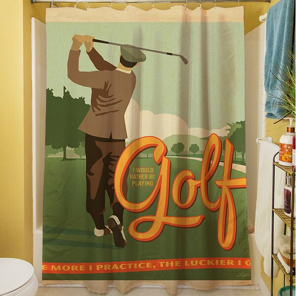 Golf Bad Day Shower Curtain by Manual Woodworkers & Weavers