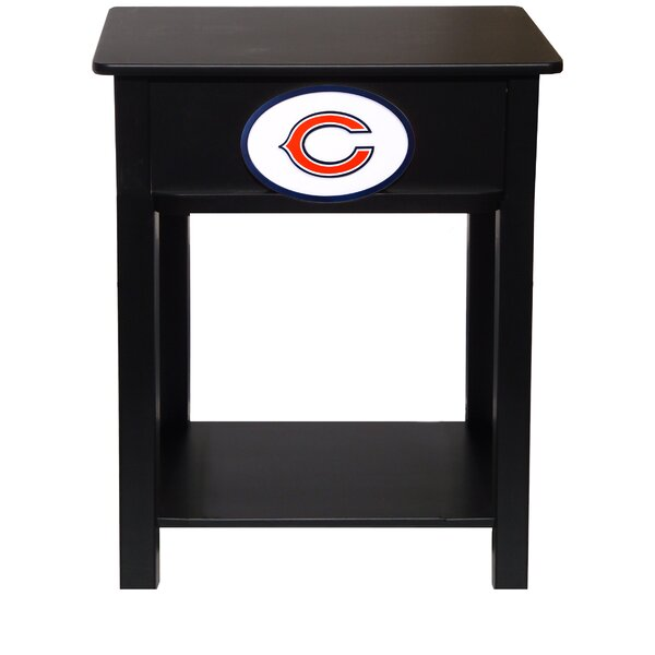 Nfl End Table With Storage by Fan Creations