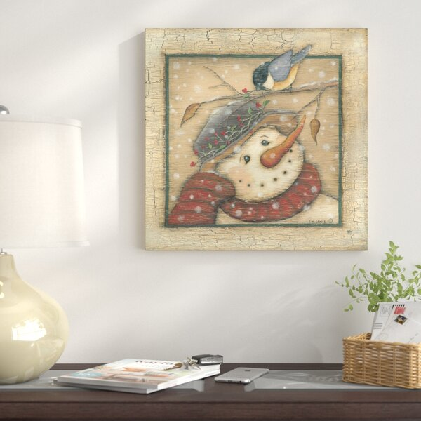 Snowman I Painting Print on Wrapped Canvas by The