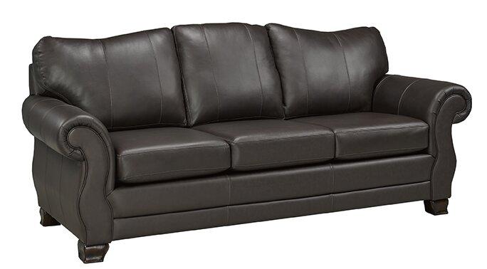 Captivating Huntington Italian Leather Sofa
