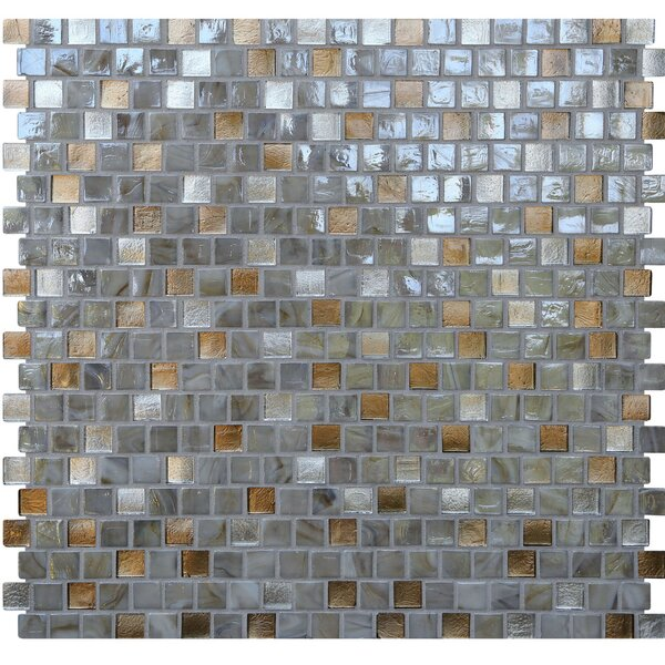 Opal 0.63 x 0.63 Glass Mosaic Tile in Abalone by Kellani