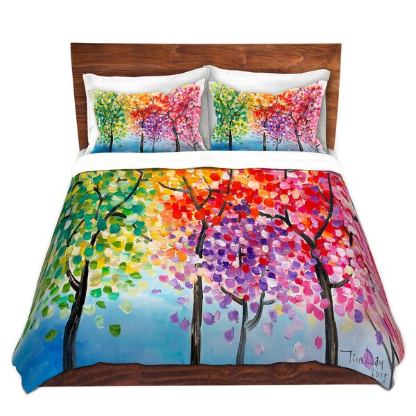 Colorful Trees III Duvet Cover Set