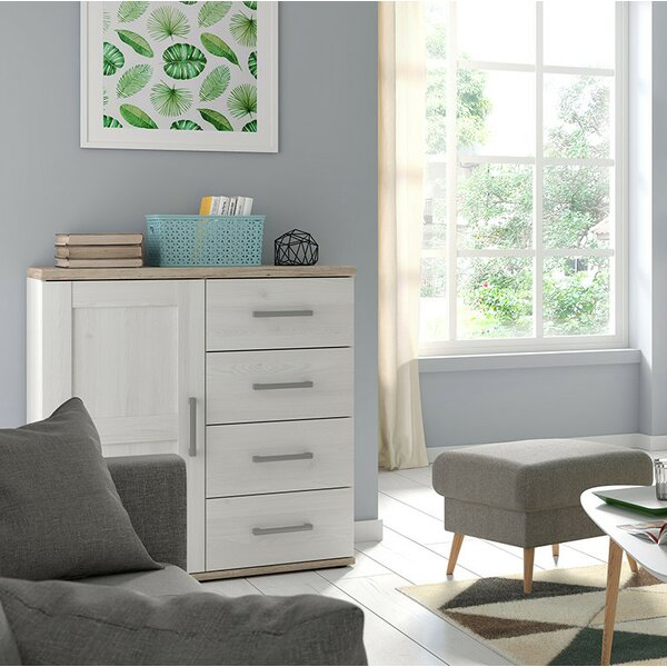 Gainsborough 4 Drawer Combo Dresser by Highland Dunes