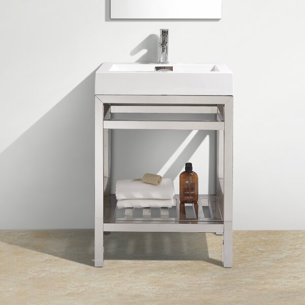 Hammonton Console 24 Single Bathroom Vanity Set by Wade Logan