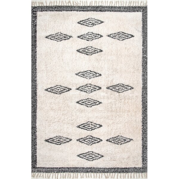 Portwood Hand-Loomed Cotton Ivory Area Rug by Union Rustic
