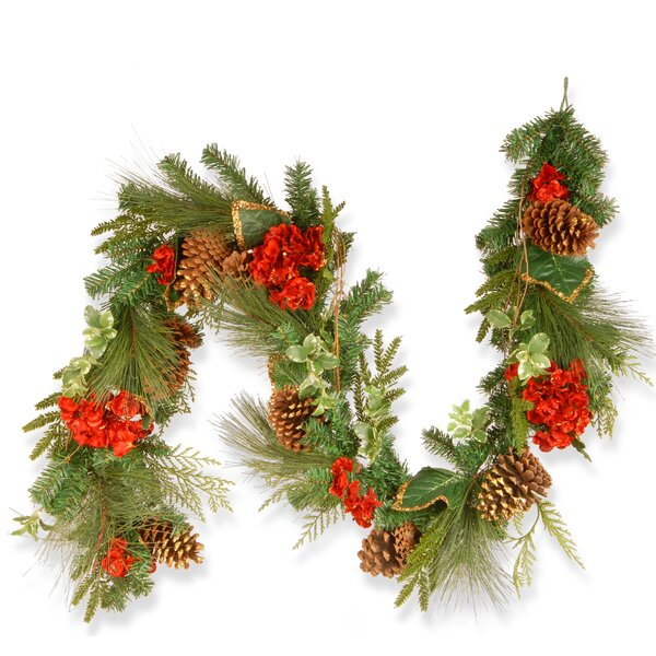 Hydrangea Pine Garland by National Tree Co.