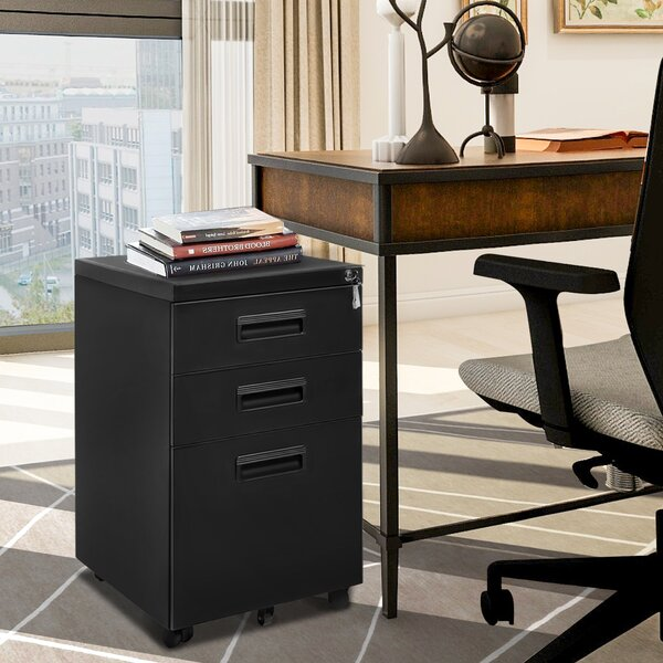 Alayia 3 - Drawer Mobile Vertical Filing Cabinet