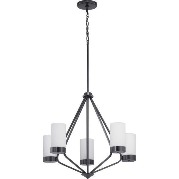Aeroome 5 - Light Shaded Geometric Chandelier by Wrought Studio Wrought Studio