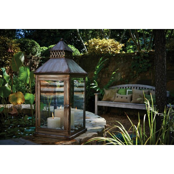 Meridian Steel Lantern by Peak Season Inc.