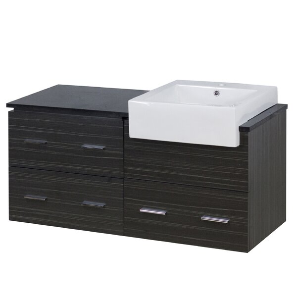 Mulberry Wall Mount 48 Single Bathroom Rectangular Vanity Set by Royal Purple Bath Kitchen