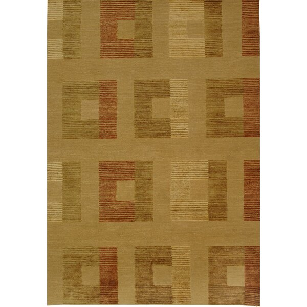 Shore Line Hand-Knotted Light Gold Area Rug by Corrigan Studio