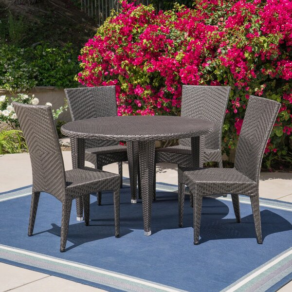Corchado Outdoor 5 Piece Dining Set by Wrought Studio