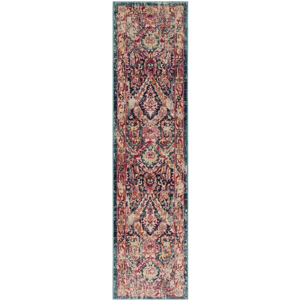 Bayshore Gardens Blue Area Rug by Bungalow Rose