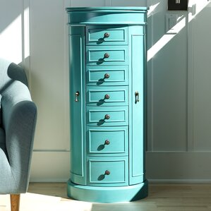 Robbinston Wood Jewelry Armoire by Rosecliff Heights