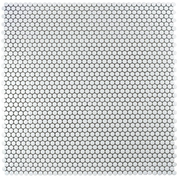 Retro 0.75 x 0.75 Porcelain Mosaic Tile in Glossy White by EliteTile